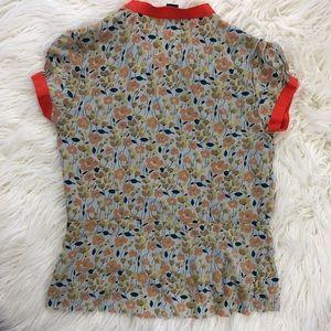 Marc Jacobs Tops - MARC JACOBS floral silk orange shirt blouse ties 6